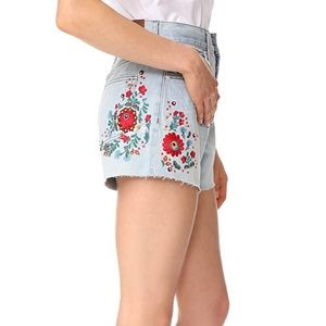 Madewell The Perfect Jean Shorts Embroidered